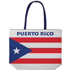 PUERTO RICO FLAG BEACH BAG
