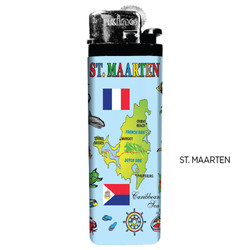 St. Maarten Map Lighters