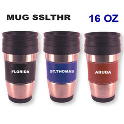Steel Leather Travel Mugs