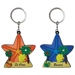 STARFISH PVC BEACH KEYCHAIN