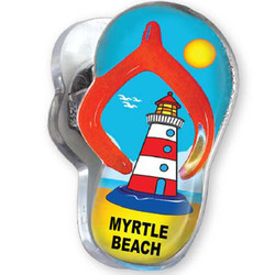 RED LIGHTHOUSE, Sandal Acrylic Memo Clip Magnets