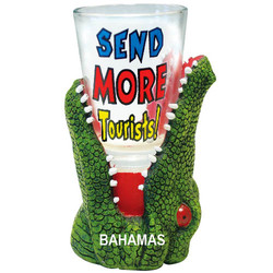 SEND MORE TOURISTS. Alligator Shot Glass