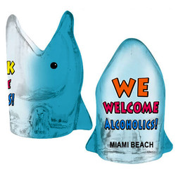 WE WELCOME ALCOHOL. Dolphin Shot Glass