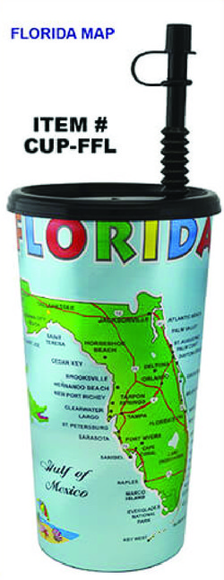 Plastic Foil Cup Florida Map