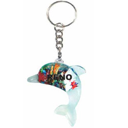 KEY CHAIN FLOATING CASINO DOLPHIN