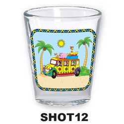 REGGAE BUS SHOT GLASS