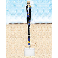 Rockin Gear Souvenir Lanyards With Badge Holder Barbados