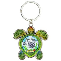 Turtle Foil Key Chain. Stingray