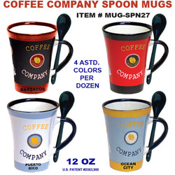 Coffee Company Spoon Mugs