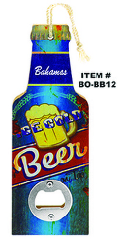 Vintage Beer Bottle Opener Bahamas