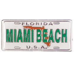 FLORIDA Miami Beach ENAMEL MAGNET LICENSE PLATE