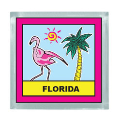 FLAMINGO SQUARE MAGNET