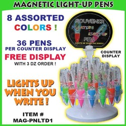MAGNETIC LIGHT-UP PENS COUNTER DISPLAY