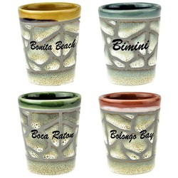 CERAMIC GLAZED SHOT GLASS