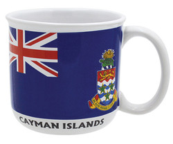 Gift Boxed Souvenir Mugs Cayman Islands Flag
