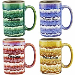 Glazed Ceramic Mugs 16 oz.