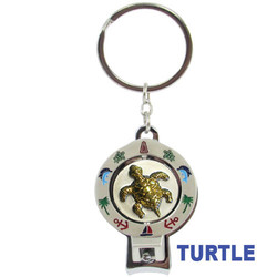 TURTLE SPINNER NAIL CLIPPER KEYCHAINS