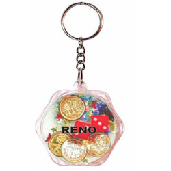KEY CHAIN FLOATING CASINO OCTAGON