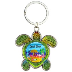 Turtle Foil Key Chain, Beach Scene