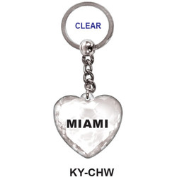 CRYSTAL CLEAR HEART Keychain