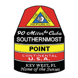 SOUTHERMOST POINT PVC MAGNET
