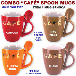 Coffee Cafe Spoon Mugs