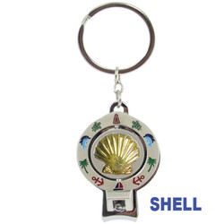 SHELL SPINNER NAIL CLIPPER KEYCHAINS