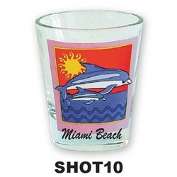 DOLPHIN & SUN SHOT GLASS