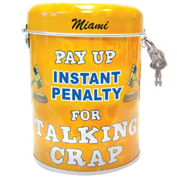 Talking Crap Tin Can Bank