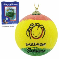 SMILE MON FROSTED CHRISTMAS ORNAMENTS