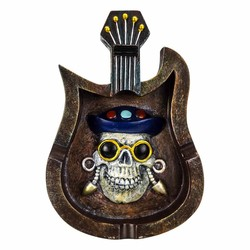 Skeleton Guitar Shield Ceramic Ashtray