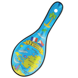 Metallic Spoon Rest, St. Maarten Theme
