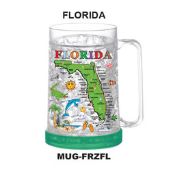 Florida Map Freezer Mug