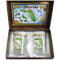 Florida Souvenir Shot Glass Box Set