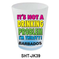 IT'S NOT A DRINKING PROBLEM SHOT GLASS