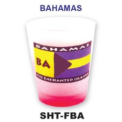BAHAMAS FLAG SHOT GLASS