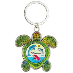 Turtle Foil Key Chain, Dolphins