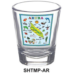 ARUBA MAP SHOT GLASSES