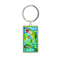 Metallic Double Sided Bass Keychain