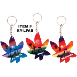 AIRBRUSHED LEAF KEYCHAINS