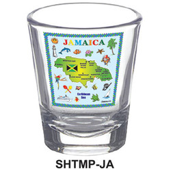 JAMAICA MAP SHOT GLASSES
