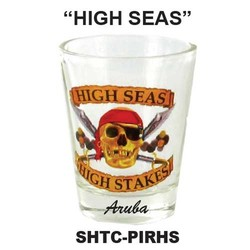 HIGH SEAS PIRATE SHOT GLASS