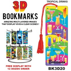Tropical Drinks 3D Bookmark