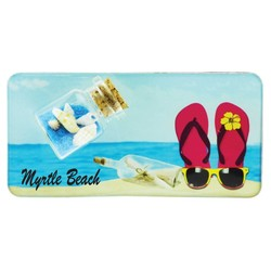 Flip Flops Sand and Shell Bottle Magnet