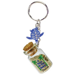 TURTLE DANGLING SAND FILLED KEYCHAINS