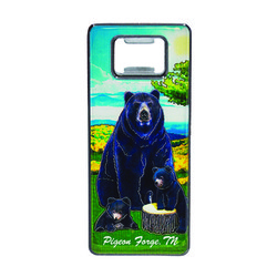 Metallic Bottle Opener Black Bear