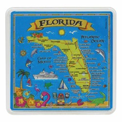 Florida MAP Acrylic Foil Magnets