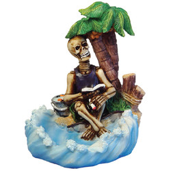 Skeleton Under Palm Tree Ashtray