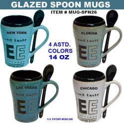 Glazed Spoon Mugs
