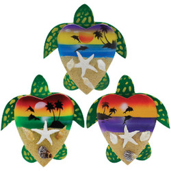 AIRBRUSHED TURTLE WOOD MAGNETS